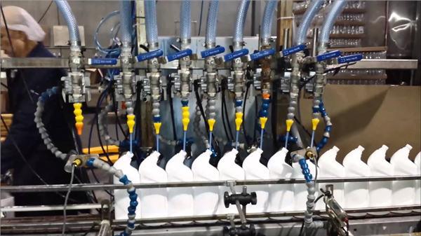 전자동 화장실 청소기 표백제 선형 충전물 기계