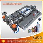반자동 탈포 부식성 액체 충전 기계