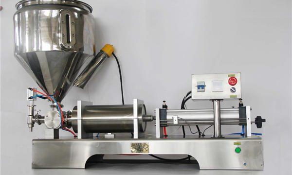 순수한 압축 공기를 넣은 반자동 과일 잼 충전물 기계