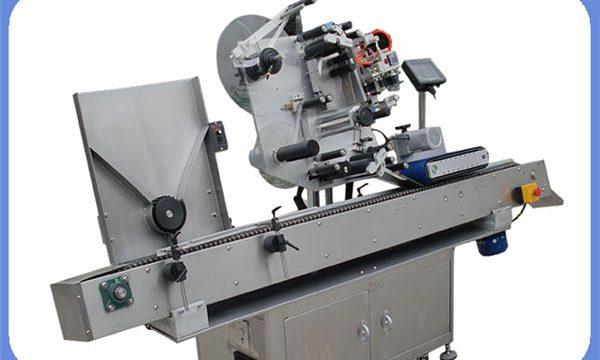 둥글고 정연한을위한 자동적 인 병 스티커 레테르를 붙이는 기계