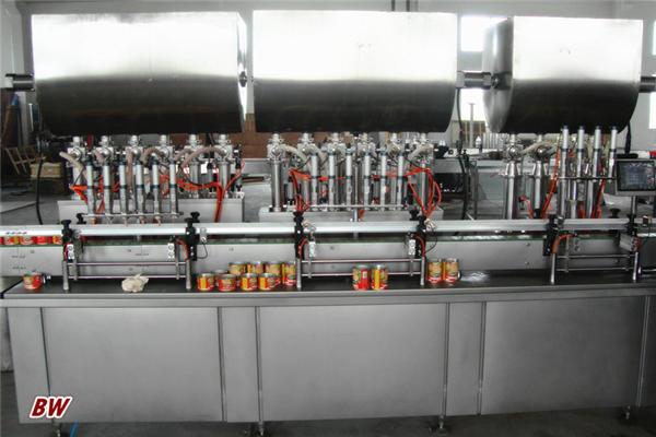 자동적 인 뜨거운 피자 소스 충전물 기계