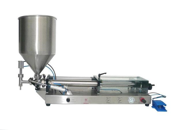 반자동 케첩 충전물 기계
