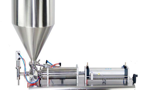 반자동 피스톤 병 크림 충전물 기계