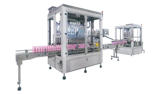 가득 차있는 자동적 인 액체 비누 세제 샴푸 충전물 기계