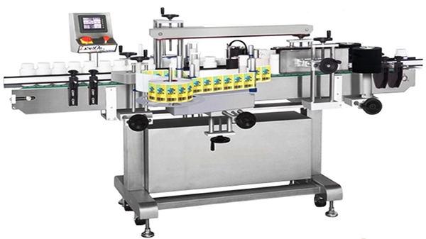 자동 양면 유리 병 라벨링 기계