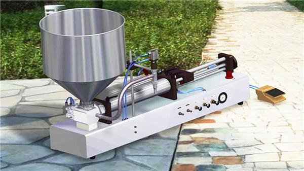 반자동 수직 치약 충전물 기계