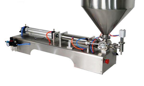 반자동 피스톤 두꺼운 소스 충전 기계